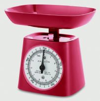 Terraillon Kitchen Scale With Bowl - 5kg Red